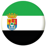 Extremadura Flag 58mm Mirror Keyring.